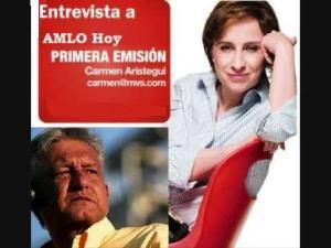 Entrevista de Carmen Aristegui a AMLO.
