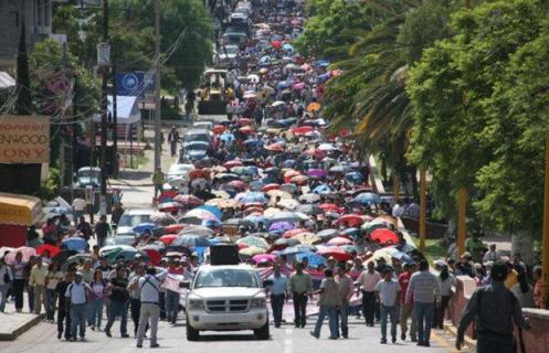 La sección 22 del SNTE de Oaxaca es actualmente uno de los bastiones más importantes de la CNTE. Foto: percepcion.com
